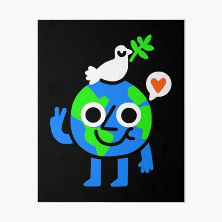 World Peace and Love Art Board Print