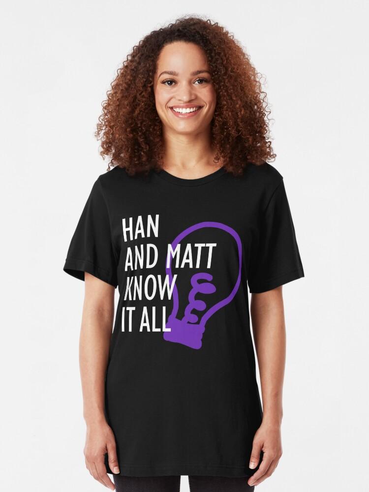 Alternate view of Han and Matt Logo Slim Fit T-Shirt