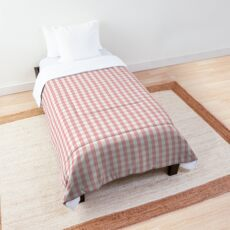 Mini Lush Blush Pink and White Gingham Check Plaid Comforter