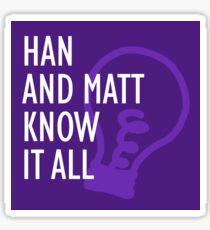 Han and Matt Logo Purple Sticker
