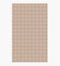Tan basket weave pattern Photographic Print