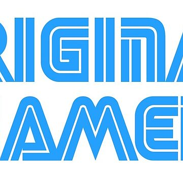 Original Gamer in Sega Font  by gaming-tees