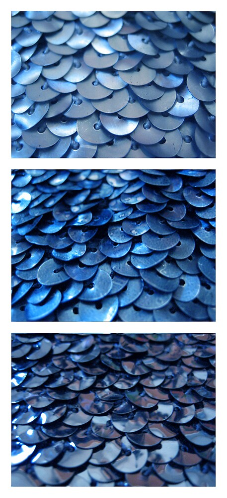 Cyan Sequins by Kylie Newton