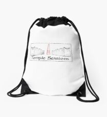 Temple Sessions logo Drawstring Bag