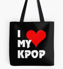 I LOVE MY KPOP - BLACK Tote Bag