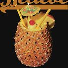 Believe Pineapple Cup Tropical Drink Print by B-PROVOCATIVE