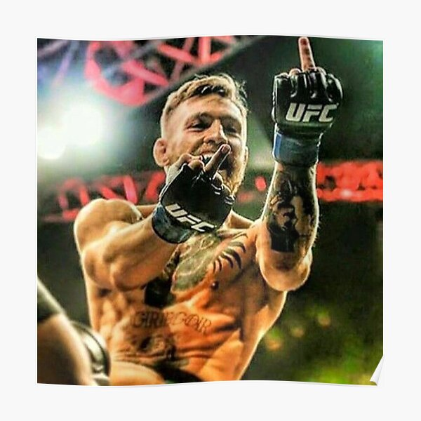 Conor McGregor Middle Finger Design Poster