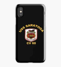USS Saratoga (CV/CVA/CVB-60) Crest for Dark Colors iPhone Case