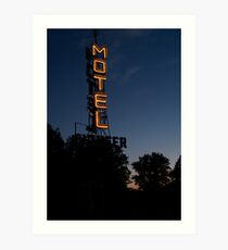 Pioneer Motel Neon Art Print