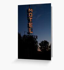 Pioneer Motel Neon Greeting Card