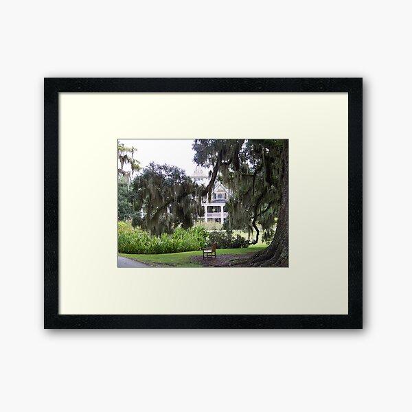 Magnolia Plantation Framed Art Print