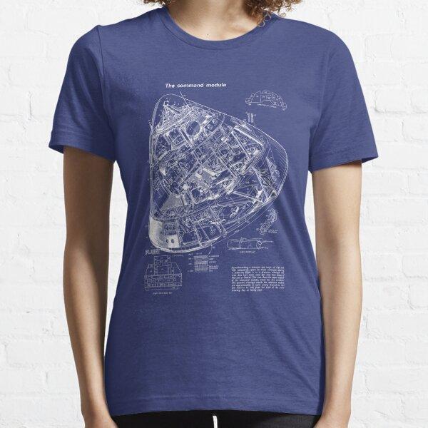 Apollo Command Module Blueprint Drawing Essential T-Shirt