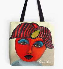 Red Tomato Face Tote Bag
