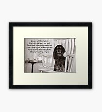 Missing You Cavalier King Charles Spaniel  Framed Print