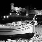 Wooden Fishing Boats and a Castle by James2001
