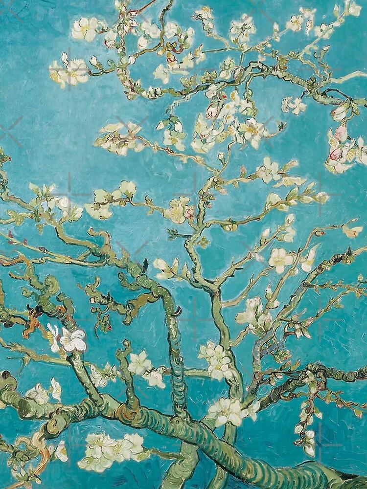 Vincent Van Gogh Almond Blossoms at St. Remy by PixDezines