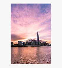 A Pink Sunset in London Photographic Print