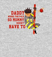 Funny Firefighting Daddy T-Shirt - Firefighter Dad Fireman Kids Pullover Hoodie