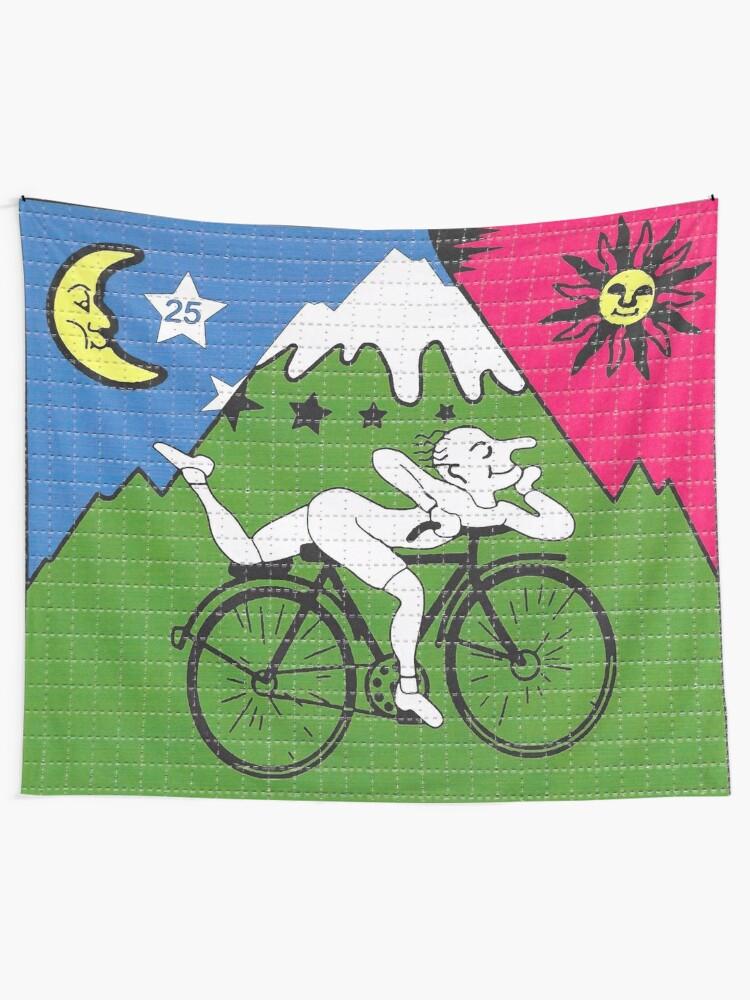 Alternate view of LSD - Albert Hofmann - Bicycle Day Tapestry