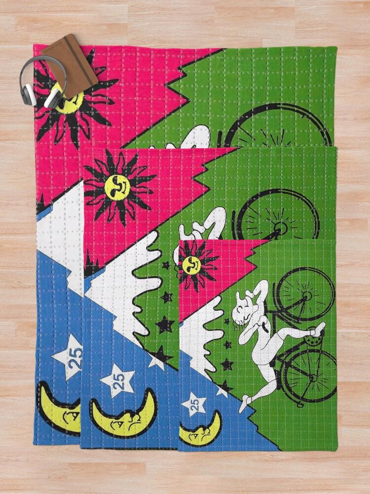 Alternate view of LSD - Albert Hofmann - Bicycle Day Throw Blanket