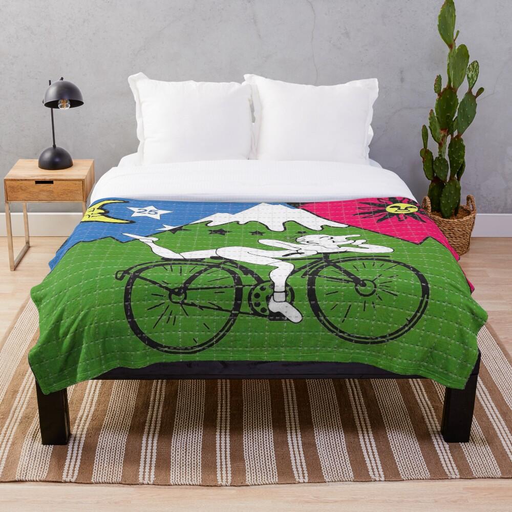 LSD - Albert Hofmann - Bicycle Day Throw Blanket