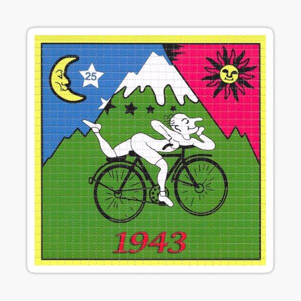 LSD - Albert Hofmann - Día de la bicicleta Pegatina