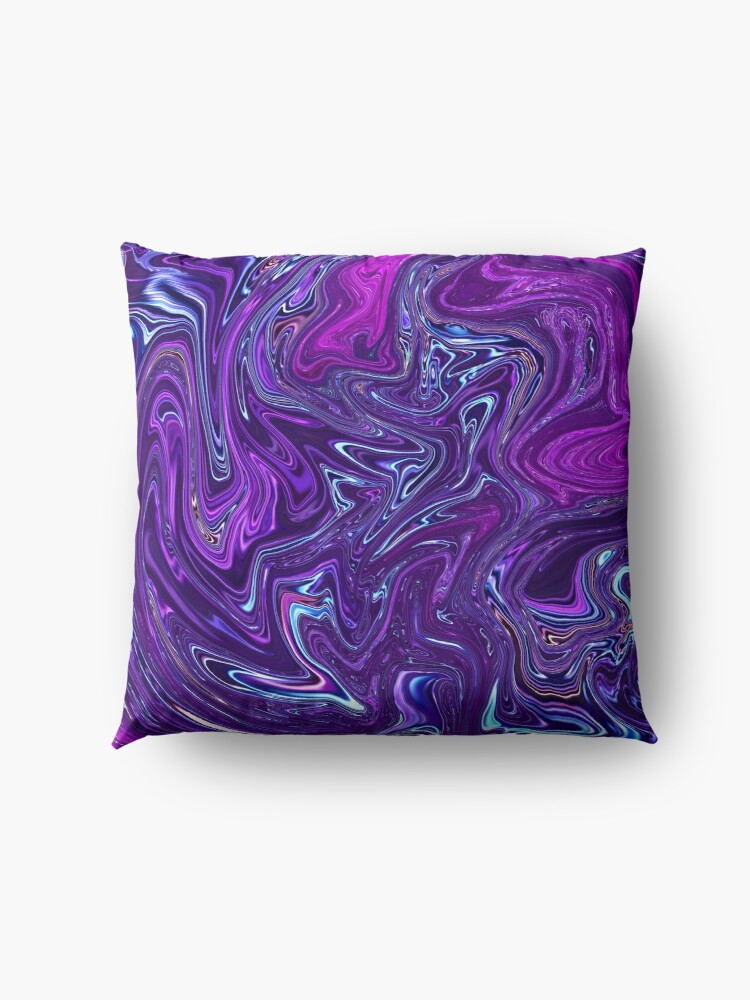 Alternate view of Marble Purple Texture Floor Pillow
