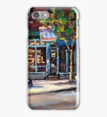 BEST AUTHENTIC ORIGINAL MONTREAL ART RUE ST.VIATEUR BOULANGERIE ST.VIATEUR  MONTREAL CITY SCENES iPhone Case/Skin