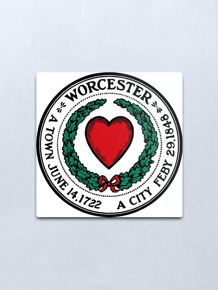 Alternate view of Seal of Worcester Metal Print