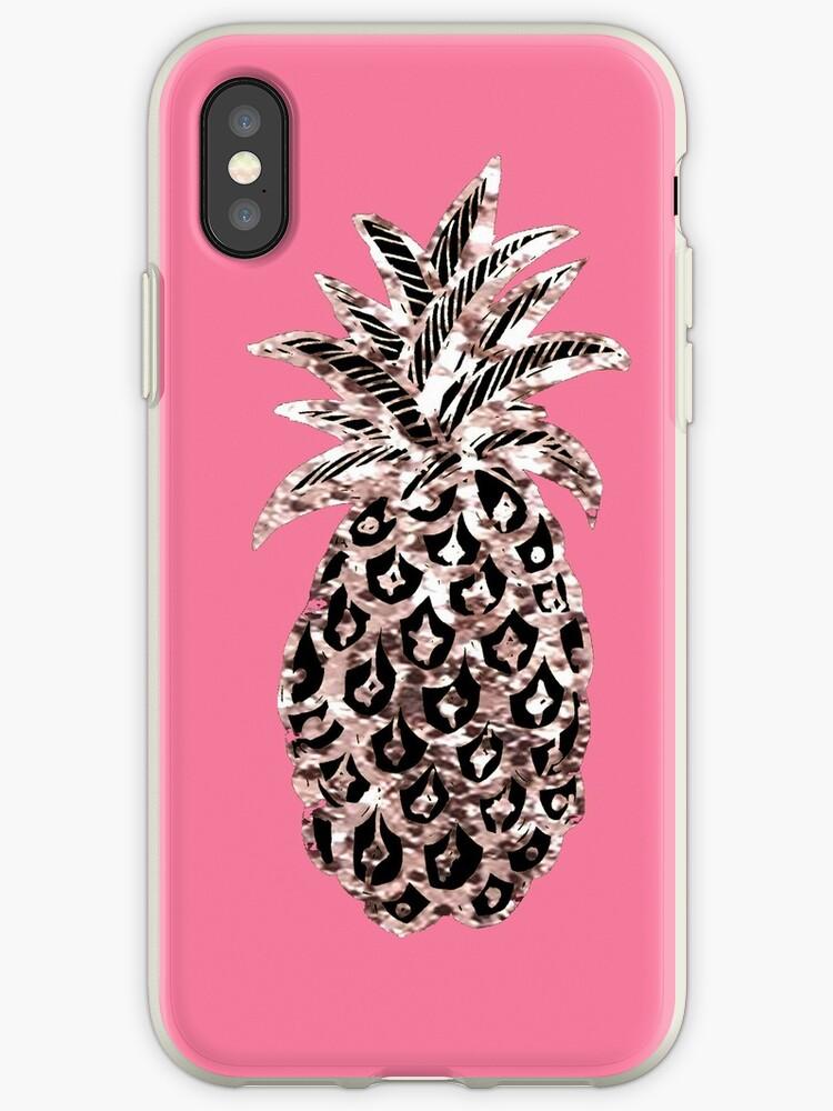 Pink pineapple Metallic  by MagentaRose