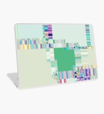 Abstract lines and colour green Laptop Skin