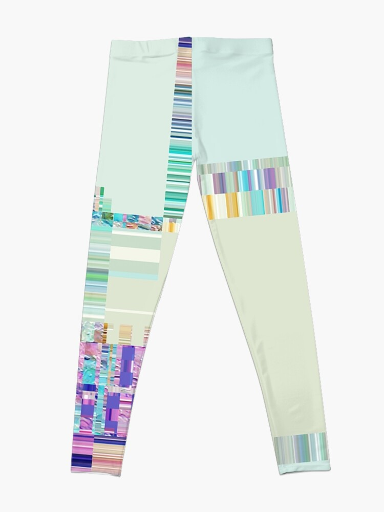 Alternate view of Abstract lines and colour green Leggings