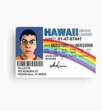 Mclovin Drivers License  Metal Print
