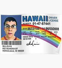 Mclovin Drivers License  Poster