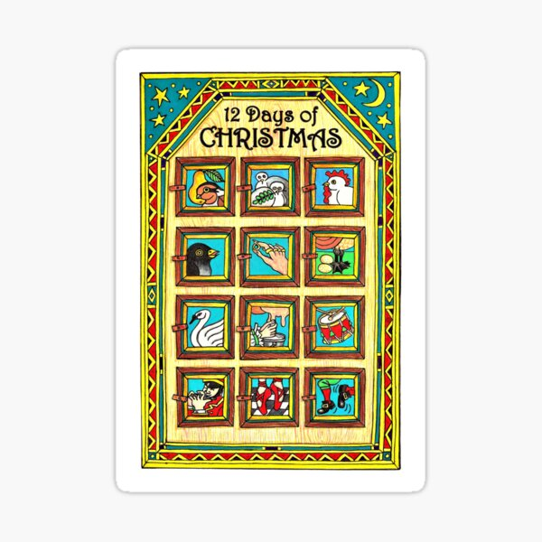 12 DAYS of CHRISTMAS Sticker