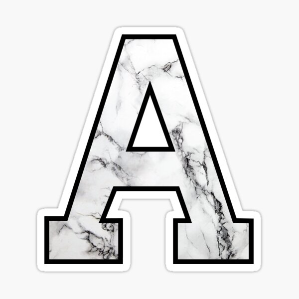 Marble Initial letter A Sticker