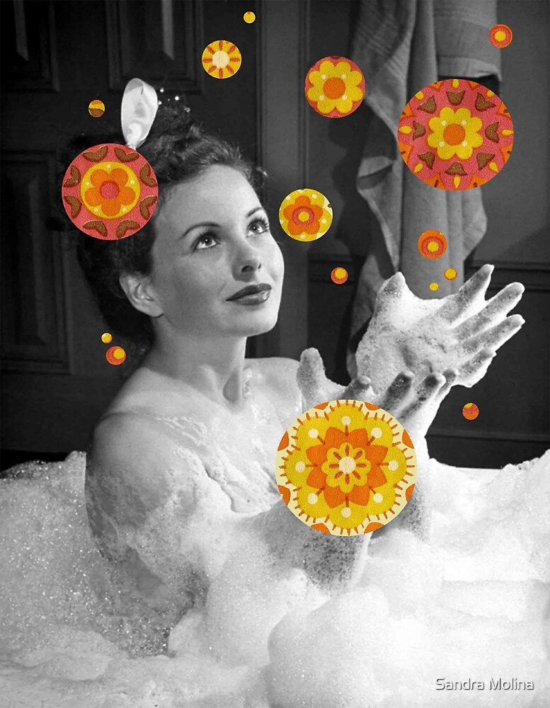 Jeanne's Bubble Bath Dreams by Sandra Molina