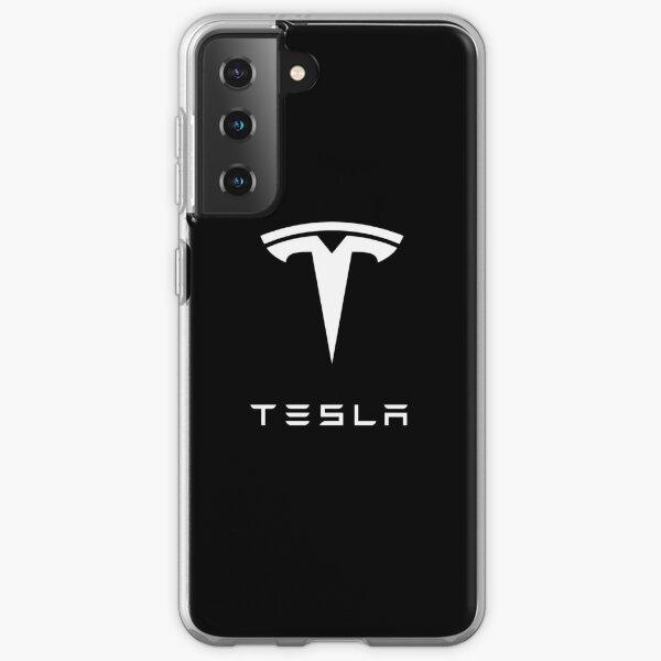 TESLA - White Samsung Galaxy Soft Case