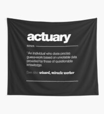 Actuary Definition Gift - Funny Job Quote Tee Wall Tapestry