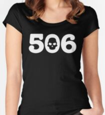 506 Skull Women's Fitted Scoop T-Shirt