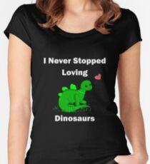 I Never Stopped Loving Dinosaurs - Steve the Stegosaurus Women's Fitted Scoop T-Shirt