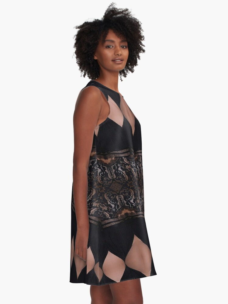 Alternate view of Lace, Schema, chart, proportion, adequacy, symmetry, fashionable, trendy, stylish A-Line Dress