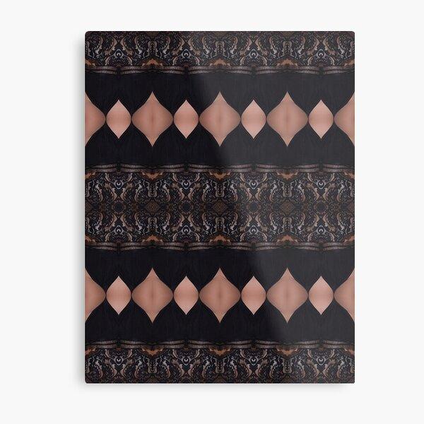 Lace, Schema, chart, proportion, adequacy, symmetry, fashionable, trendy, stylish Metal Print