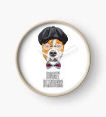 Doggy Blinders Clock