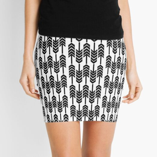 The Arrows Go Up and Down Mini Skirt