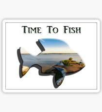 Time to Fish 2 - Design Art Sticker