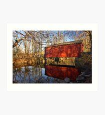 Fall at the Ashland Covered Bridge Art Print