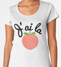J'ai la pêche - I'm Feeling Peachy in French Women's Premium T-Shirt