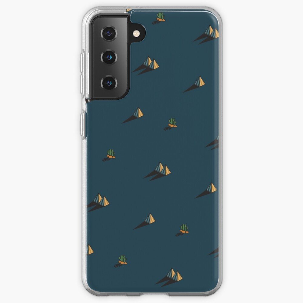 NIGHT - Egypt pyramid and cactus pattern in DARK BLUE Case & Skin for Samsung Galaxy