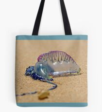 Beached Blue Bottle Tote Bag